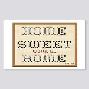 Home Sweet WAHM Rectangle Sticker